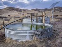 Water stock tanks at Colorado praire