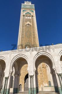 Minaret der Moschee Hassan II in Casablanca