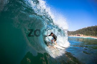 Surfing Inside Wave