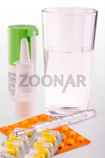 spray and pill box