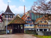 Sudhaus and Culture museum Haellisch-Fraenkisches Museum near the old town of Schwaebisch Hall