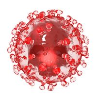 Artistic 3D illustration of the coronavirus sars-cov-2