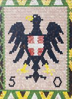 Austrian coat of arms on roof of Stephansdom cathedral, Vienna