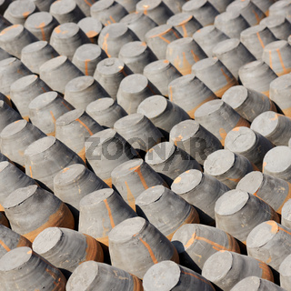 Pottery drying in the sun