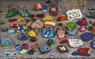 Bemalte Steine - Die Kreativitaet der Kinder