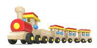 Wooden train 3D