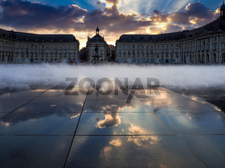 Miroir d'Eau at Place de la Bourse in Bordeaux