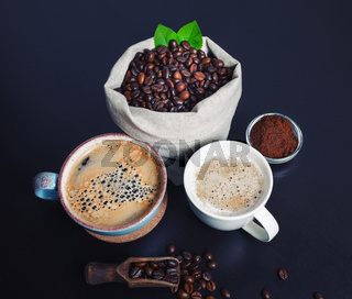 Hot coffee cups