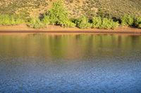 mountain lake at Colorado foothills