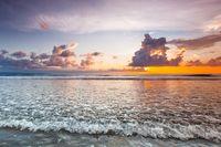 Amazing sunset form Bali beach