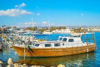 motorboats yachts marina Paphos, Cyprus