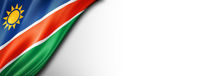 Namibian flag isolated on white banner