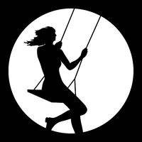 young woman swinging icon