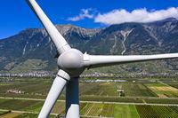 Windkraftanlage Adonis im Rhonetal
