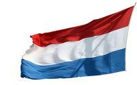 Flag of the Netherlands with a white backgroundFlagge der Niederlande vor einem weißen Hintergrund