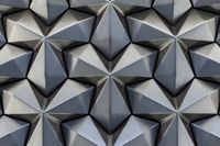 Abstract silver metal background. Geometric metal pattern angular cladding
