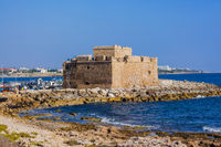 Old historical castle in Paphos Cyprus