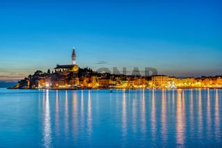Blick auf die schöne Altstadt von Rovinj