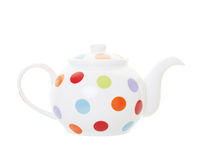 Polka Dot Teapot with Clipping Path