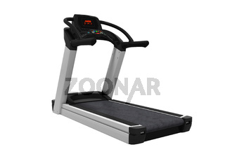 Treadmill for training in the gym 3d render on white background no shadow