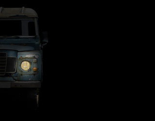 Truck Headlamp With Copy Space