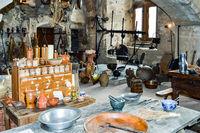 Old kitchen of Vianden castle