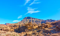 Panoramic view of highland in Tenerife island