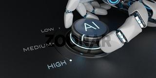 Robot Hand Control Knob AI High Level