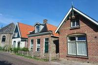 Häuserzeile in Friesland, Niederlande