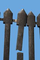 Broken cast iron fence