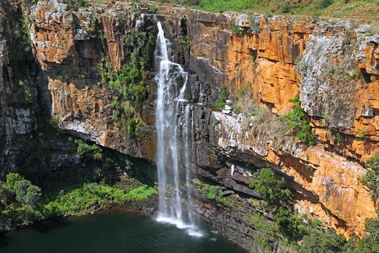 Berlin Falls an der Panorama Route, Mpumalanga, Südafrika, Berlin falls at Panorama route in South Africa