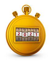 Golden stopwatch 2021