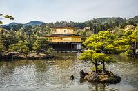Kinkakuji Temple or The Golden Pavilion in Kyoto, Japan