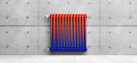 classic radiator in front of background - 3D Illustration