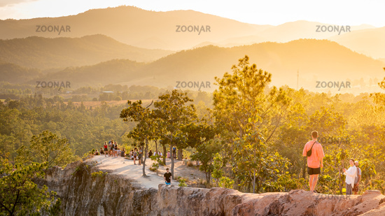 Sunset and mountain views, Pai Canyon, northern Thailand