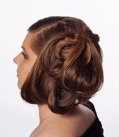 Modern hairstyle detail