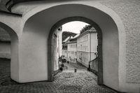 Der Torbogen zur Schwarzenberger Altstadt