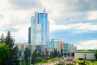 Modern Minsk downtown cityscape, Belarus