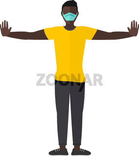 Man With Mask Vector
