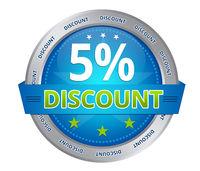 5 percent discount