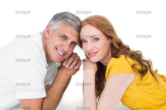 Casual couple smiling at camera