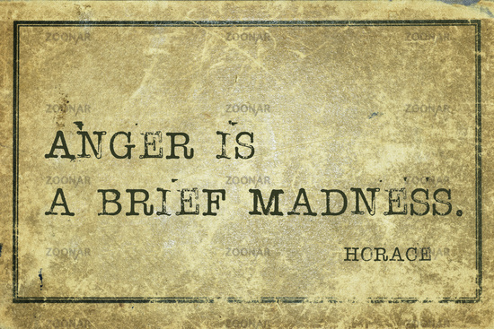 anger is Horace