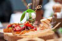 Tasty tomato Italian bruschetta