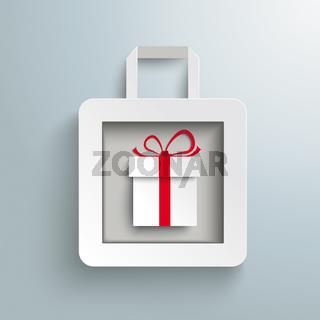 White Paper Shopping Bag Gift PiAd