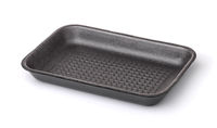 Gray empty foam food tray