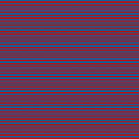 Horizontal stripes in dark blue and red