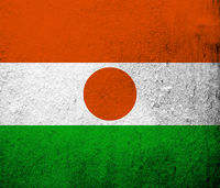 The Republic of the Niger National. Grunge background
