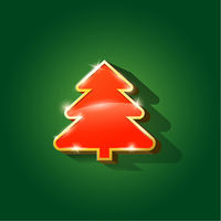 Glossy Christmas tree isolated on background
