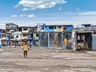 Kids in a slum of Mumbai