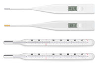 Reliable mercury and modern electronic medical thermometers.